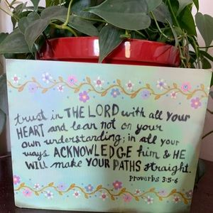 Trust in the Lord Proverbs 3:5-6 wooden Sign